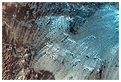 Peak Ring of Baldet Crater in the Nili Fossae Region