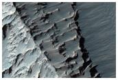 Distinct Spur and Gully Mesa in Candor Chasma