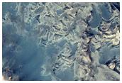 Layer Exposure in Crater North of Meridiani Planum