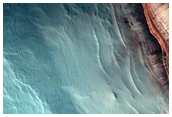 Test Geographic Extent of Frost-Dust Avalanches on North Polar Scarps