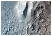 Rim and Interior of Crater in Isidis Planitia