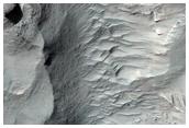 Crater West of Niesten Crater