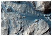 Gale Crater Layers in Northeast Section of Mound with Possible Sulfates