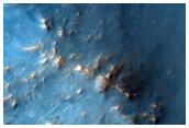 Crater Ejecta in Nili Fossae Region