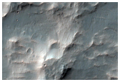 Possible Lake Deposits on Crater Floor Southwest of Holden Crater