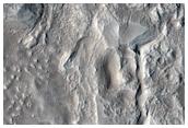 Protonilus Mensae Valley and Knob