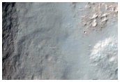 Crater in Amenthes Planum