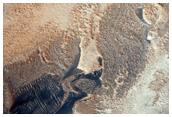 Interaction between Abalos Mensa and Rupes Tenuis Dunes