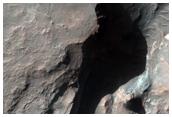 Eroding Massifs near Terby Crater