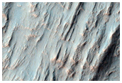 Alluvial Fan in Large Impact Crater