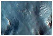 Floor of Valles Marineris near Sulfate Outcrops in Tithonium Chasma
