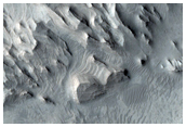 Contact between Wall Rock and Light-Toned Layering in West Candor Chasma