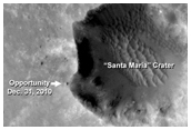 Opportunity Rover at Santa Maria Crater