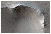 Dusty Volcanic Vent in Syria Planum