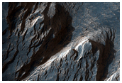 Layers and Dark Debris in Melas Chasma