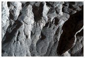 Light-Toned Material in Melas Chasma
