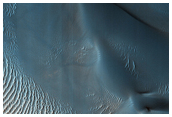 Sand Dunes in Rabe Crater
