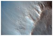 Corrimientos de tierra a lo largo de Bahram Vallis