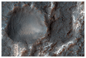 Layers in Columbus Crater