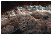 Layers Exposed in Crater Near Mawrth Vallis
