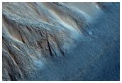 Burroni nella parete di un cratere