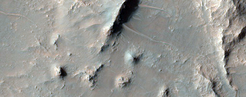Terrain in Eberswalde Crater