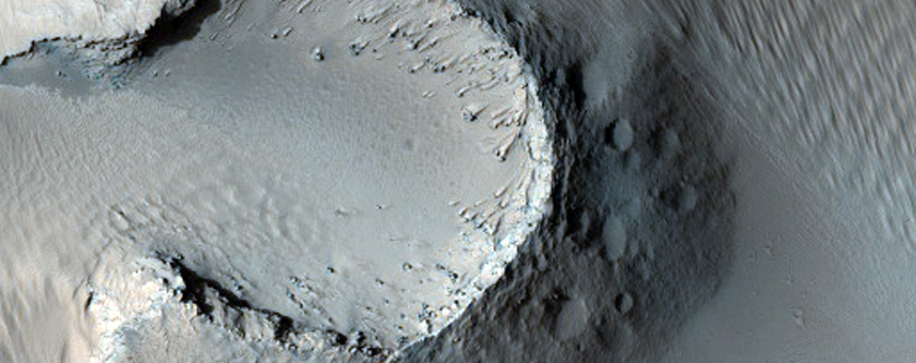 Cone on Pavonis Mons