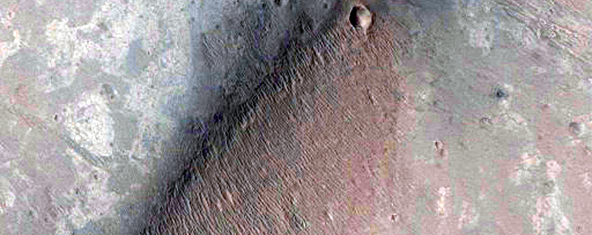 Light-Toned Layering along Wallrock in Southwest Melas Chasma