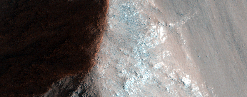 Possible Megabreccia in Coprates Chasma Center