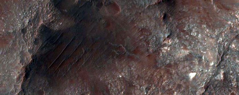 Colorful Rocks in Ritchey Crater