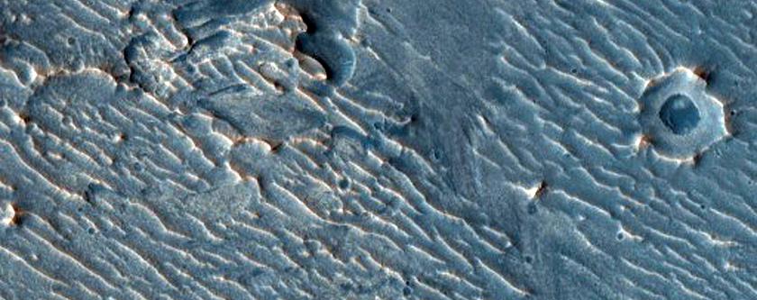 Layered Sedimentary Rocks in Arabia Region Crater