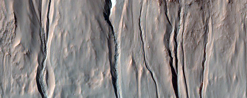Compare Gullies in Crater to MOC Cproto For Change Detection