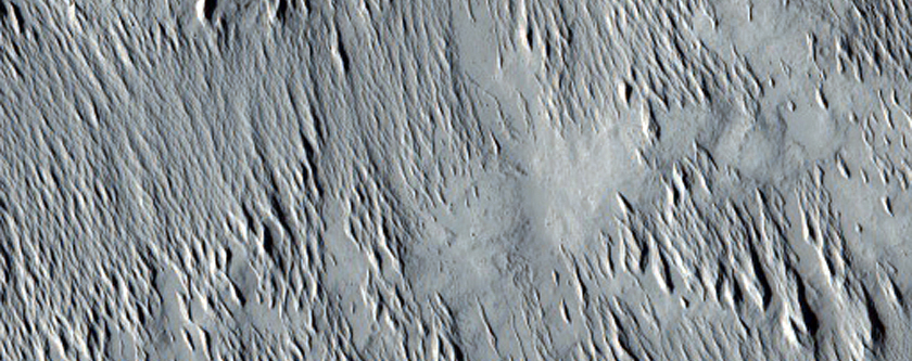 Minio Vallis Outflow Channel Near Chaotic Terrain