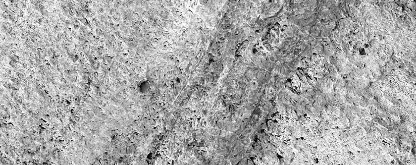 Large Region of Layering in Meridiani Planum