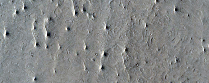 Possible MSL Rover Landing Site - Southwest Arabia Terra