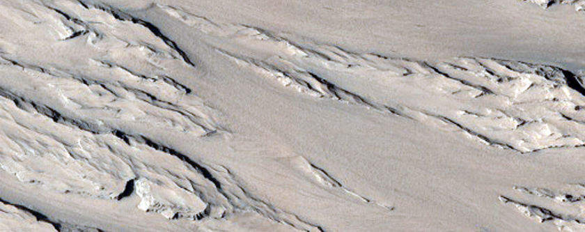 Interior Layered Deposit Outcrop in Candor Chasma