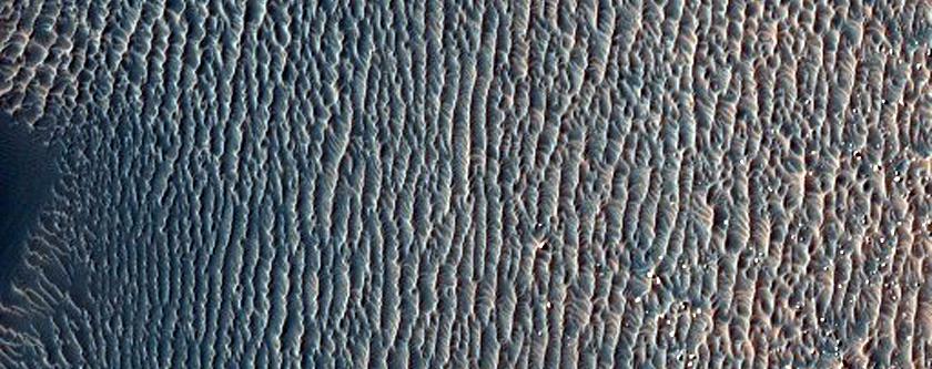 דיונות של חול במכתש פרוקטור (Proctor Crater)