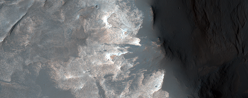 Light-Toned Outcrop on North Wall of Western Melas Chasma