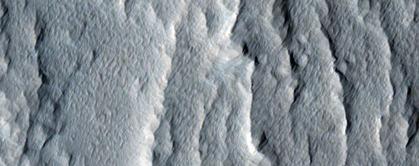 Olympus Mons South Edge Slope Streak