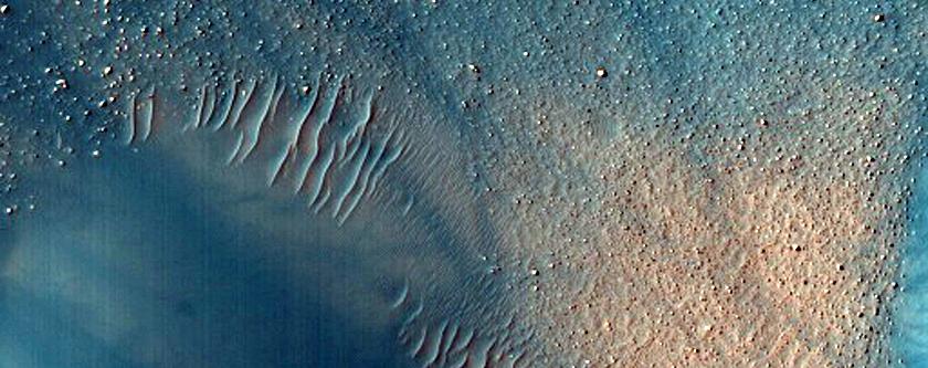 Dark Dust Devil Tracks in Bright Crater Floor in Southern Noachis Region