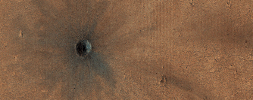 Fresh Impact Crater Formed between February 2005 and July 2005