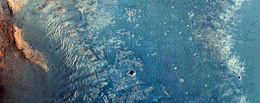 West Rim of Crater in Meridiani Planum