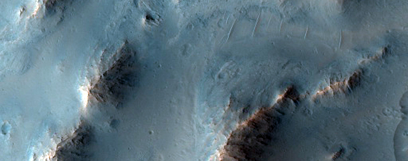 Eastern Outlier of Oudemans Crater Central Uplift