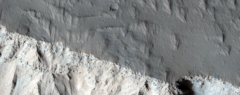 Olympus Mons Basal Scarp Exposure