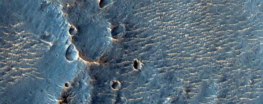 Crater Rim in Margaritifer Terra