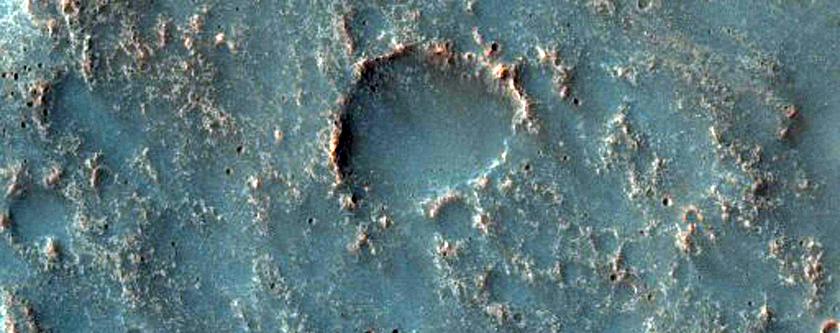 Potential High Temperature Mineral in Terra Tyrrhena Knob
