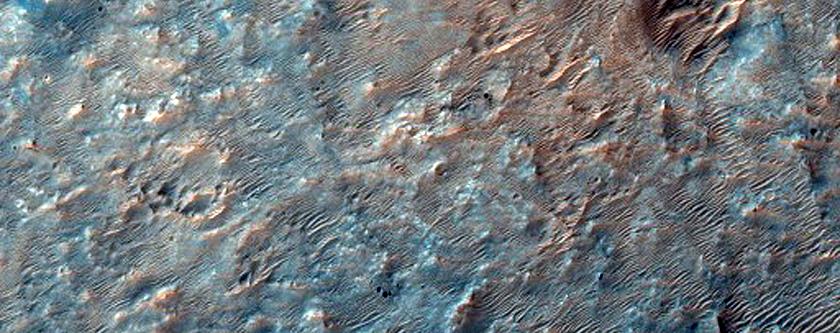 Phyllosilicate and Possible Chlorite Prehnite Northwest of Hellas Region