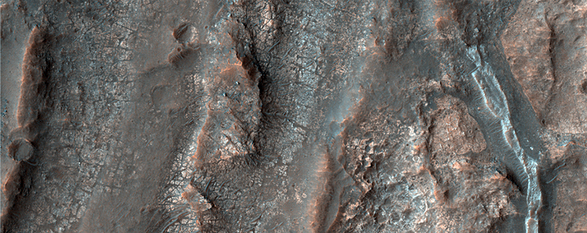Small Valleys and Colorful Bedrock in Terra Cimmeria