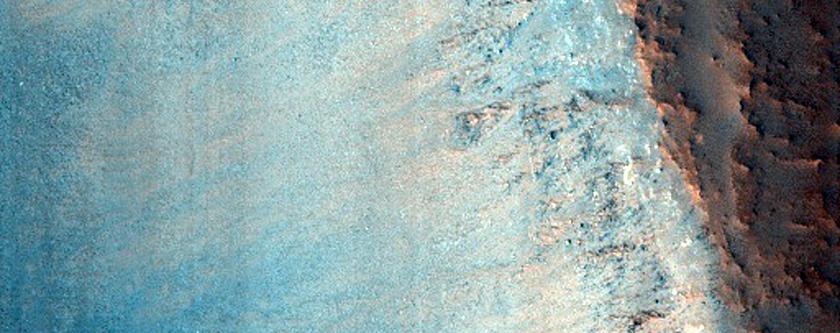 Impact Crater in Tempe Terra