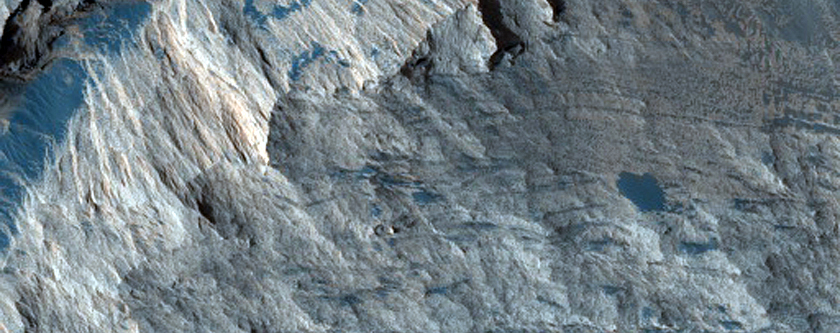 Contact between Parallel Bedded and Contorted Layers in South Melas Region
